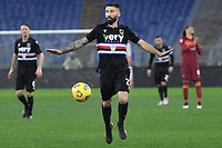 Lorenzo Tonelli of UC Sampdoria in action during the Serie A football match between AS Roma and UC Sampdoria at Olimpico stadium in Roma (Italy), January 3rd, 2021. Photo Andrea Staccioli / Insidefoto