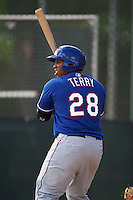 Texas Rangers Curtis Terry (28) during an instructional league game against the Seattle Mariners on October 5, 2015 at the Surprise Stadium Training Complex in Surprise, Arizona.  (Mike Janes/Four Seam Images)