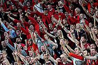 Leverkusen fans cheer on <br /> Torino 01/10/2019 Juventus Stadium <br /> Football Champions League 2019//2020 <br /> Group Stage Group D <br /> Juventus - Leverkusen <br /> Photo Andrea Staccioli / Insidefoto