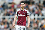 West Ham captain Declan Rice. Newcastle v West Ham, August 15th 2021. The first game of the season, and the first time fans were allowed into St James Park since the Coronavirus pandemic. 50,673 people watched West Ham come from behind twice to secure a 2-4 win.