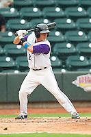 Martin Medina (22) of the Winston-Salem Dash at bat against the Frederick Keys at BB&T Ballpark on July 21, 2013 in Winston-Salem, North Carolina.  The Dash defeated the Keys 3-2.  (Brian Westerholt/Four Seam Images)