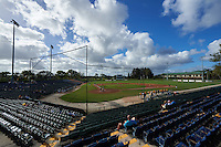 General view of a Siena Saints game against the Pittsburgh Panthers on February 24, 2017 at Historic Dodgertown in Vero Beach, Florida.  Pittsburgh defeated Siena 8-2.  (Mike Janes/Four Seam Images)