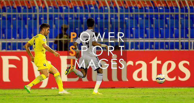 Al Shabab vs Naft Tehran during the 2015 AFC Champions League Group B match on April 07, 2015 at the Prince Faisal Bin Fahd Stadium in Riyadh, Saudi Arabia. Photo by Adnan Hajj / World Sport Group