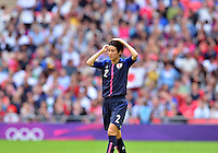 August 06, 2012..Japan's Yukari Kinga #2 during Semi Final match at the Wembley Stadium on day ten in Wembley, England. Japan defeats France 2-1 to reach Women's Finals of the 2012 London Olympics.