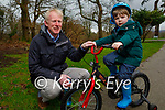 Enjoying a stroll in the Killarney National park on Saturday, l to r: Thomas and John Barry