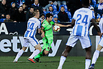 CD Leganes's Vasyl Kravets and Levante UD's Jorge Andujar 'Coke' during La Liga match between CD Leganes and Levante UD at Butarque Stadium in Leganes, Spain. March 04, 2019. (ALTERPHOTOS/A. Perez Meca)