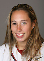 STANFORD, CA - NOVEMBER 3:  Maddy Coon of the Stanford Cardinal softball team poses for a headshot on November 3, 2008 in Stanford, California.