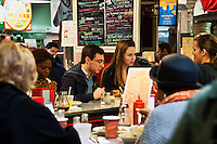 Diner at Reading Terminal Market, Philadelphia, Pennsylvania, USA