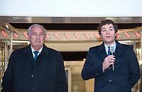 November 17 2017, PARIS FRANCE<br /> inauguration of the Big Wheel at Place de la Concorde Paris, in the presence of the Actors Alain Delon, Jean Paul Belmondo . Marcel Campion, his lawyer are present.