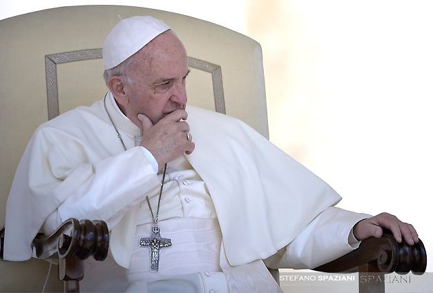 Pope Francis during of a weekly general audience at St Peter's square in Vatican. May 31, 2017