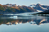 Summer landscape of icebergs at Bear Glacier Lagoon in Kenai Fjords National Park.  Kenai Penninsula, Summer, Alaska   <br /> <br /> Photo by Jeff Schultz/  (C) 2019  ALL RIGHTS RESERVED