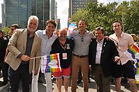 Fierte Montreal : Philippe Couillard, Justin Trudeau, Denis Coderre<br /> ,