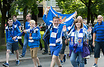 FK Trakai v St Johnstone…06.07.17… Europa League 1st Qualifying Round 2nd Leg, Vilnius, Lithuania.<br />The St Johnstone fans arrive at the LFF Stadium<br />Picture by Graeme Hart.<br />Copyright Perthshire Picture Agency<br />Tel: 01738 623350  Mobile: 07990 594431