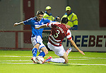 Hamilton Accies v St Johnstone...24.09.13      League Cup<br /> Gwion Edwards scores to make it 2-0<br /> Picture by Graeme Hart.<br /> Copyright Perthshire Picture Agency<br /> Tel: 01738 623350  Mobile: 07990 594431