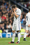 "José Ignacio Fernández Iglesias ""Nacho"" of Real Madrid reacts during the La Liga match between Real Madrid and RC Deportivo La Coruna at the Santiago Bernabeu Stadium on 10 December 2016 in Madrid, Spain. Photo by Diego Gonzalez Souto / Power Sport Images"