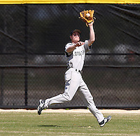 March 15, 2010:  Outfielder Sam Sciamarelli (25) of the Long Island University Blackbirds vs. UMBC at Lake Myrtle Park in Auburndale, FL.  Photo By Mike Janes/Four Seam Images