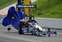 Jun. 19, 2011; Bristol, TN, USA: NHRA top fuel dragster driver Brandon Bernstein during eliminations at the Thunder Valley Nationals at Bristol Dragway. Mandatory Credit: Mark J. Rebilas-