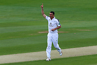 Kyle Abbott of Hampshire celebrates taking the wicket of Ravi Bopara during Essex CCC vs Hampshire CCC, Specsavers County Championship Division 1 Cricket at The Cloudfm County Ground on 20th May 2017
