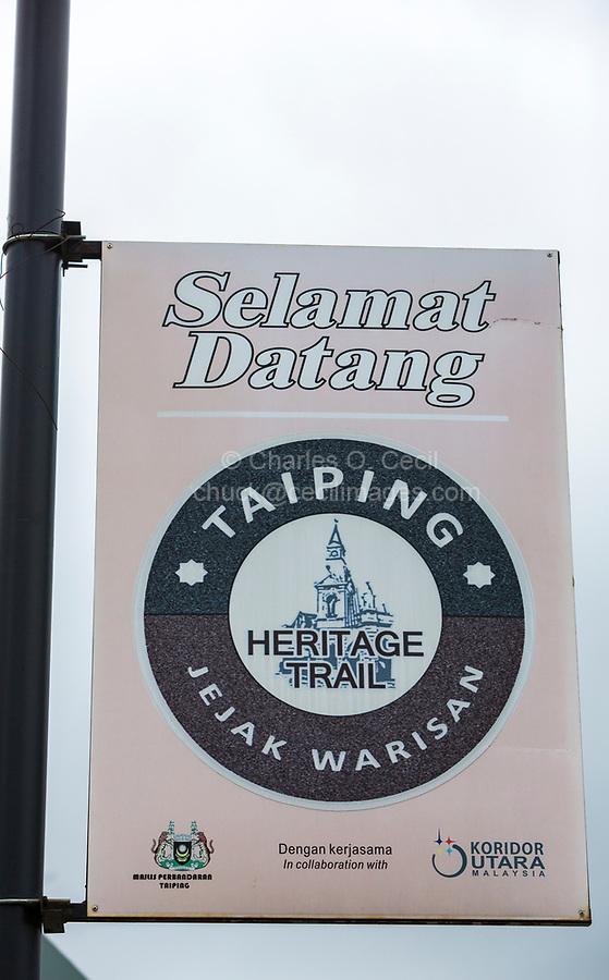 Heritage Trail Sign, Taiping, Malaysia.