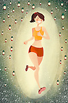 Illustrative image of woman jogging representing healthy lifestyle