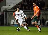 Pictured: Jordi Gómez of Swansea City in action<br /> Picture by D Legakis / Athena Picture Agency, Swansea, 07815441513