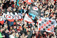 Saracens fans look forward to the Heineken Cup Final after beating ASM Clermont Auvergne at Twickenham Stadium on Saturday 26th April 2014 (Photo by Rob Munro)