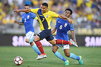 Action photo during the match Brazil vs Ecuador, Corresponding Group -B- America Cup Centenary 2016, at Rose Bowl Stadium<br /> <br /> Foto de accion durante el partido Brasil vs Ecuador, Correspondiante al Grupo -B-  de la Copa America Centenario USA 2016 en el Estadio Rose Bowl, en la foto: (i-d) Jefferson Montero de Ecuador y Elias de Brasil<br /> <br /> <br /> 04/06/2016/MEXSPORT/Omar Martinez.