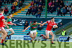 David Clifford, East Kerry in action against Mike Breen, Mid Kerry during the Kerry County Senior Football Championship Final match between East Kerry and Mid Kerry at Austin Stack Park in Tralee on Saturday night.