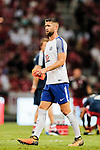 Chelsea Defender Gary Cahill warming up during the International Champions Cup match between Chelsea FC and FC Bayern Munich at National Stadium on July 25, 2017 in Singapore. Photo by Marcio Rodrigo Machado / Power Sport Images