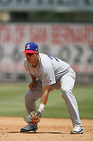 May 14 2009: Raul Padron of the Stockton Ports during game against the Inland Empire 66'ers at Arrowhead Credit Union Park in San Bernardino,CA.  Photo by Larry Goren/Four Seam Images
