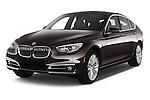 2015 BMW 5 Series 535i Gran Turismo Luxury Line 5 Door Hatchback Angular Front stock photos of front three quarter view