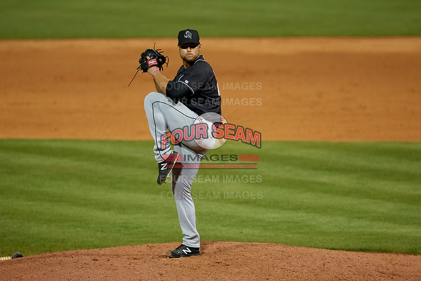 Jupiter Hammerheads relief pitcher Vincenzo Aiello (26) during a Florida State League game against the Florida Fire Frogs on April 8, 2019 at Osceola County Stadium in Kissimmee, Florida.  Florida defeated Jupiter 7-6 in ten innings.  (Mike Janes/Four Seam Images)