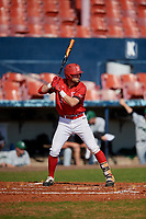 Bradley Braves Jean-Francois Garon (37) bats during a game against the Dartmouth Big Green on March 21, 2019 at Chain of Lakes Stadium in Winter Haven, Florida.  Bradley defeated Dartmouth 6-3.  (Mike Janes/Four Seam Images)