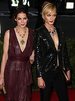 """NEW YORK CITY, NY, USA - MAY 05: Michelle Monaghan, Amber Valletta at the """"Charles James: Beyond Fashion"""" Costume Institute Gala held at the Metropolitan Museum of Art on May 5, 2014 in New York City, New York, United States. (Photo by Xavier Collin/Celebrity Monitor)"""