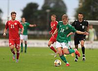 8th September 2020; Ballymena Showgrounds, Ballymena, Antrim County, Northern Ireland; UEFA Under 21s Championship Qualifier, Group B, Northern Ireland versus Denmark; Alistair McCann of Northern Ireland brings the ball forward