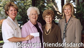 San Diego Association of Realtors' representatives presented a check to Catherine Darragh and Harriet Gill to sponsor ADU Competition 2005.
