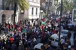 Algerian protesters march in an anti-government demonstration in the capital Algiers on March 01, 2019.  Photo by Taher Boussoualim