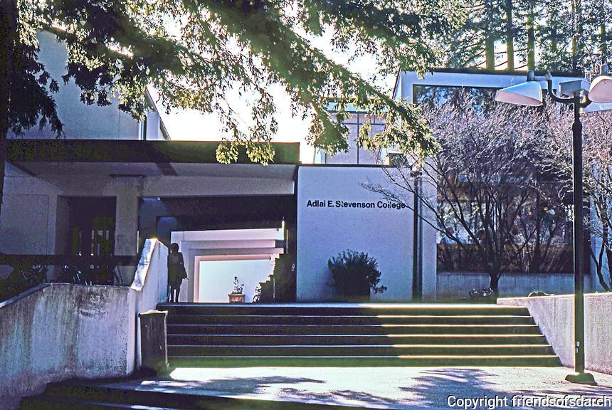Santa Cruz CA:  Adlai E. Stevenson College-Entrance. Esherick, Homsey, Dodge & Davis--completed 1966.