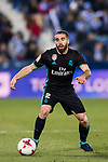 Daniel Carvajal Ramos of Real Madrid in action during the Copa del Rey 2017-18 match between CD Leganes and Real Madrid at Estadio Municipal Butarque on 18 January 2018 in Leganes, Spain. Photo by Diego Gonzalez / Power Sport Images