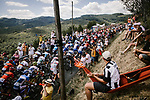 The peloton passes by during Stage 8 of the 2019 Tour de France running 200km from Macon to Saint-Etienne, France. 13th July 2019.<br /> Picture: ASO/Pauline Ballet   Cyclefile<br /> All photos usage must carry mandatory copyright credit (© Cyclefile   ASO/Pauline Ballet)