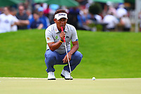 Thongchai Jaidee at the 5th green during the BMW PGA Golf Championship at Wentworth Golf Course, Wentworth Drive, Virginia Water, England on 27 May 2017. Photo by Steve McCarthy/ PRiME Media Images.