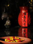 Bao-jhong Yi-min Temple, Kaohsiung -- Blessed sachets that are supposed to ward off evil.