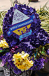 DEL MAR, CA  JULY 16: Breeders Cup decorated hat<br />   (Photo by Casey Phillips/ Eclipse Sportswire/ CSM)
