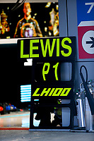 26th September 2021; Sochi, Russia; F1 Grand Prix of Russia, Race Day: 100th win of 44 Lewis Hamilton GBR, Mercedes-AMG Petronas F1 Team shows Hamilton with the P1 win