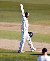 Daniel Bell-Drummond celebrates his hundred for Kent during Kent CCC vs Lancashire CCC, LV Insurance County Championship Group 3 Cricket at The Spitfire Ground on 24th April 2021
