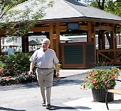 Fasig-Tipton's Walt Robertson, who recently announced his retirement, before the sales.