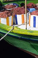 Europe/Chypre/Paphos : Détail filets sur le port de pêche