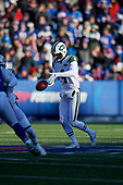 New York Jets Lac Edwards (4) punts during an NFL football game against the Buffalo Bills, Sunday, December 9, 2018, in Orchard Park, N.Y.  (Mike Janes Photography)