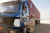 """- control of the trucks for the restocking incoming to the italian military basis """"Camp Mittica""""....- controllo degli autocarri per i rifornimenti in ingresso al campo del contingente militare italiano """"Camp Mittica"""""""