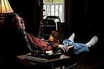 Tom Dougherty of Groveland, Ill., has a spacer where his left hip used to be. He is waiting for an infection caused by an all-metal hip to clear up so that he can get a new artificial joint..Kristen Schmid for The New York Times